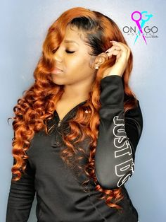 Pretty Hair Color, Hair Color Shades, Hair Colors, Dope Hairstyles, Hairstyles For School, Pretty Hairstyles, Burnt Orange Hair, Sew In Wig, Sew Ins