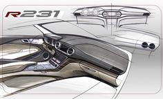 Mercedes-Benz SL-Class - Interior Design Sketch