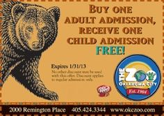 Coupon for the OKC Zoo!