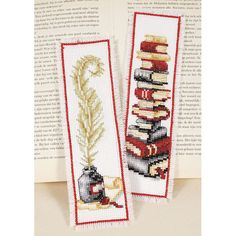 Novel Bookmark Set - Cross Stitch, Needlepoint, Embroidery Kits – Tools and Supplies
