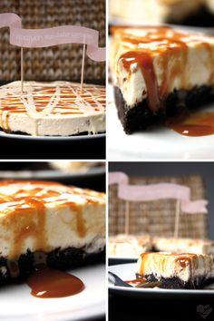 Dreierlei Liebelei: Wahnsinn! Schon ein Jahr Liebelei... Als Dankeschön gibt es für Euch ein fettes Stück Oreo-White-Chocolate-Caramel-Cheesecake!