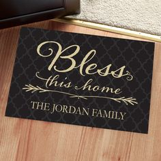 b51acaa4faa32 Bless This Home Personalized Doormat - Doormats - Home