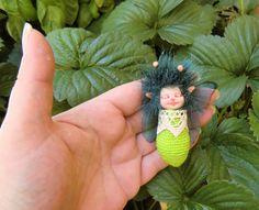 Ooak Miniature  newborn  fairy sculpt by ArtistaToscana on Etsy, $28.00