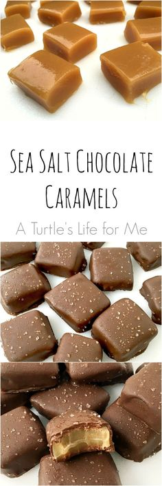 These sea salt chocolate covered caramels are SO easy to make and are pretty much the best candy I've ever eaten!