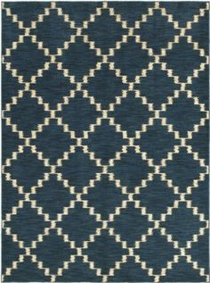 Amazon.com - Area Rug 3x5 Rectangle Transitional Indigo Color - Shaw Melrose Rug from RugPal