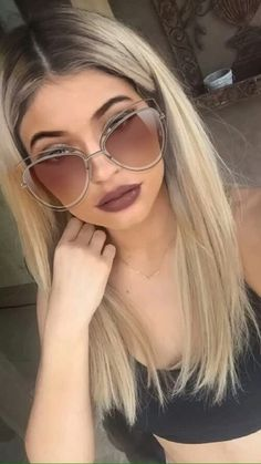Imagen de kylie jenner, blonde, and model