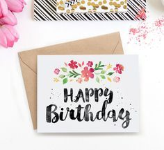 These 16 printable birthday cards cost absolutely nothing printable birthday card spring blossoms bookmarktalkfo Choice Image