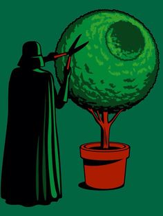 Meanwhile On The Death Star by VovaShirts