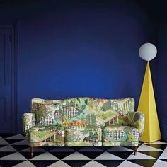 Miami by Cole & Son - Olive Multi - Fabric : Wallpaper Direct Miami Wallpaper, Wallpaper Direct, Cole And Son, Contemporary Fabric, Color Box, Art Deco Design, Wow Products, Soft Furnishings, Love Seat