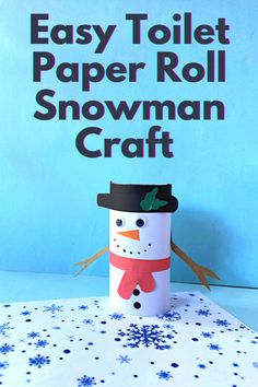 Build some winter fun indoors with this easy toilet paper roll snowman craft for kids. Here is how to make it!