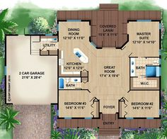 Coastal Home Plans - Orchid Bay