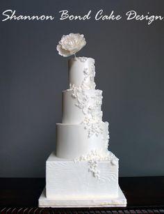 Bas Relief Wedding Cake by Shannon Bond Cake Design - http://cakesdecor.com/cakes/207164-bas-relief-wedding-cake