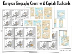 European Countries & Capitals Flashcards. Free printable for memorizing the countries and capitals of Europe. CC Challenge A
