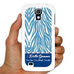 Delta Gamma Samsung Galaxy S4 White Plastic Slim Case - Zebra Print