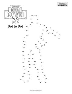 Fortnite Dot to Dot- Floss - Teaching Squared Line Graph Worksheets, School Worksheets, Dot To Dot Printables, 2nd Grade Math, Second Grade, Math Pages, String Art Templates, Math Sheets, Free Printable Worksheets