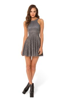 Chainmail Reversible Skater Dress (WW $85AUD / US $80USD) by Black Milk Clothing