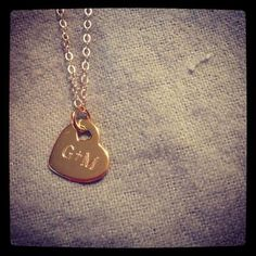 Engraved Heart Necklace- Gold - N Designs