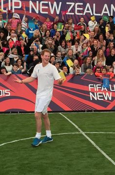 A few more shots of the 5-a-side game. #PrinceHarry #RoyalVisitNZ #Auckland #TheCloud