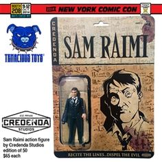 NYCC Exclusive Sam Raimi figure by Credenda Studios