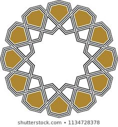 Ottoman Tile & Tezhip motifs are very similar to each other. Sacred geometry, star mandala, vector illustration. Ten sided geometric. It can be used as wall decoration, banner, motif, gift card, icon Geometric Shapes Art, Geometric Nail Art, Geometric Drawing, Islamic Art Pattern, Pattern Art, Motif Vector, Islamic Tiles, Motif Art Deco, Glass Painting Designs