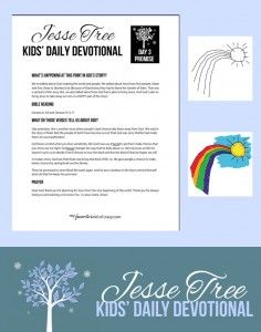 Jesse Tree Advent Devotional for kids. Podcast and Free printable devotional guide and ornament.