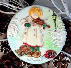 A Magic Violin! (Not Christmas yet!) - Cake by The Cookie Lab - Bolachas Decoradas Artesanais