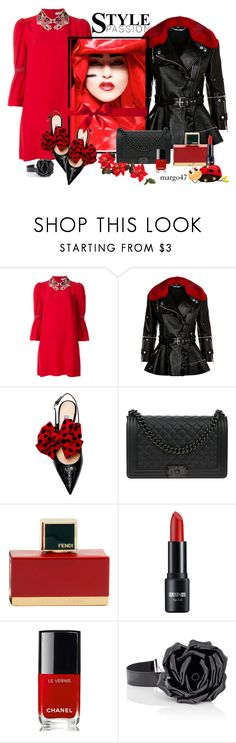 """czerwona"" by margo47 ❤ liked on Polyvore featuring VIVETTA, Alexander McQueen, Chanel, Fendi and Yves Saint Laurent"