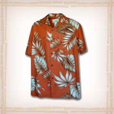 "FREE SHIPPING – EVERY ORDER, EVERY DAY! Hawaiian Shirt ""Floral"" Rayon By Pacific Legend – Rust  Genuine coconut shell buttons and matching print engineered chest pocket & Speard Collar. This Pacific legend Hawaiian Shirt garment is 100% Rayon Poplin & Made in Hawaii.  http://hawaiianshirtdude.com/product/hawaiian-shirt-floral-rayon-by-pacific-legend-rust/"
