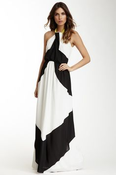 Vince Camuto Maxi Halter Colorblock Dress by Graduation Dresses on @HauteLook