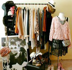 vintage clothes rack