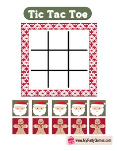 Today I have made this adorable Free Printable Tic Tac Toe Game for Christmas in 3 different designs. You can print these lovely game cards using your home Printable Christmas Games, Christmas Bingo, Christmas Party Games, Preschool Christmas, Christmas Paper, Christmas Art Projects, Xmas Crafts, Christmas Design, Winter Crafts For Kids