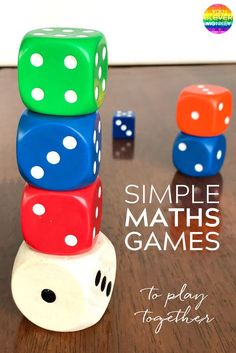 Simple Maths Games To Play Together - grab this FREE printable bundle of games to play at school or at home to help build young children's maths skills | you clever monkey
