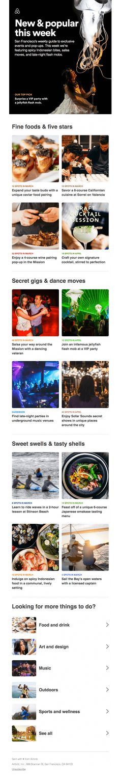 Your weekly guide to 10 exclusive events - Really Good Emails Html Email Design, Best Email, Travel And Leisure, Universe, Events, Ideas, Cosmos, Thoughts, Space