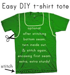 Easy t-shirt tote tutorial by Hello, ReFabulous!