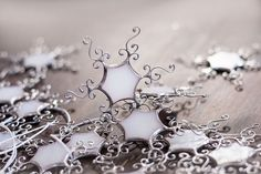 Hey, I found this really awesome Etsy listing at https://www.etsy.com/listing/167030308/snowflake-winter-ornaments-white-stained