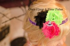 Funky Modern Witch Hat Headband  Little by OnceUponATimeTuTus