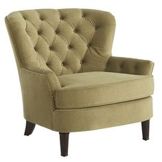Eliza Olive Green Upholstered Armchair-love my new chairs!