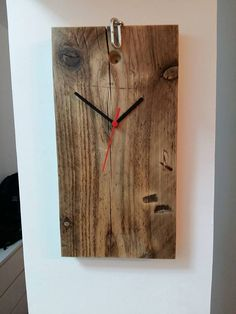 wooden wall clock, Recycled wood clock, rustic wall clock, wood wall clock, wall clock, clock