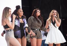 Little Mix performing at Billboard Hot 100 Music Festival