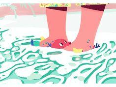 New party member! Tags: animation fun loop water beach sea sun ocean fish trip waves vacation feet sand island octopus hawaii crab marine marine biology tide sea life vacay ocean life star fish