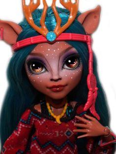 OOAK-custom-Monster-High-doll-repaint-Isi-Dawndancer-ever-after-goth-bjd