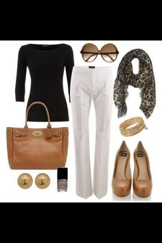 Classy fall work outfit.
