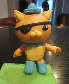 Last of the three Octonauts figurines to make for the boys cake was Kwazii. I figured this one wouldn't give me as much trouble as Peso as I...