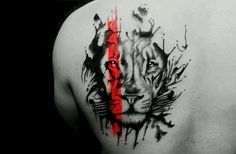 Wonder why we so much love lion tattoos? check out this collection of top popular lion animal tattoos that include the best examples of tattoo ideas Leo Tattoos, Fake Tattoos, Future Tattoos, Animal Tattoos, Body Art Tattoos, Sleeve Tattoos, Tattoos For Guys, Tatoos, Tattoo Art