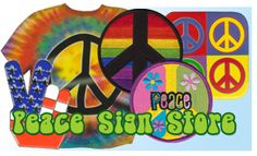 The Peace Sign Store @ A full selection of peace sign products; shoes, shirts, shorts, hats, peace sign clothing and more