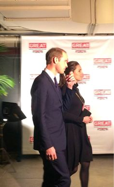 William and Kate support the @GREATBritain campaign in NYC #RoyalVisitUSA