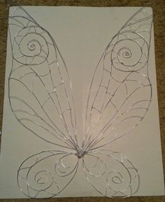 Finished Fairy wing wire frame