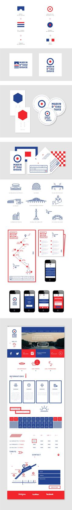 Projet d'identité graphique de la startup Marin d'eau douce