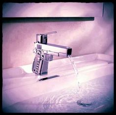 Man cave faucet - Cool, but I might prefer if it were mounted on the side...