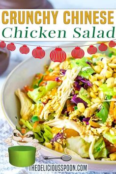 To enjoy salad it is important to keep it interesting and shake things up!  The old lettuce, chicken with balsamic is just not cutting it any more.  Who's with me here? This Chinese Chicken Salad Recipe is packed with loads of colourful veggies and the red cabbage adds not only colour but a fantastic crunch! Plus the sweetness of the oranges combined with the slightly spicy Asian inspired dressing. | The Delicious Spoon @thedeliciousspoon #asiansalad #chinesesalad #thedeliciousspoon Healthy Side Dishes, Side Dish Recipes, Asian Recipes, Dinner Recipes, Dinner Ideas, Healthy Salad Recipes, Delicious Recipes, Healthy Food, Yummy Food